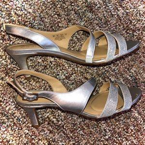 Naturalizer Silver Heels